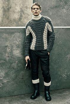 Belstaff Fall 2015 Menswear Fashion Show Leather Fashion, Mens Fashion, Knitwear Fashion, Men's Knitwear, Belstaff, Fall Winter 2015, Fashion Show, Fashion Design, Casual Wear