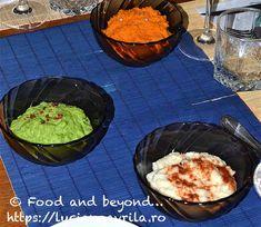 Piureuri colorate Meatless Recipes, Guacamole, Mexican, Ethnic Recipes, Food, Salads, Eten, Meals