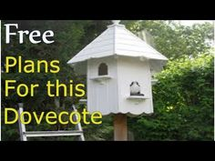 How to build a dovecote free plans Bird House Plans Free, Bird House Kits, Bird Houses Diy, Fairy Houses, Building Plans, Building A House, Woodworking Plans, Woodworking Projects, Woodworking Furniture