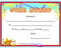 free star award certificate church ideas pinterest certificate