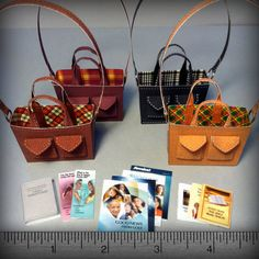 Designer Series: Sister's Plaid Lined Miniature Service Bags on Etsy, $18.00