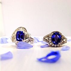 Live large with these bold and beautiful Tanzanite rings. With stunning appearance, showcasing glamorous 18kt white gold and with a layer of exquisite round brilliant diamonds, this is a definite center of attention maker! #zhaveri #zhaverialaska #sxm #stmartin #sintmaarten #saintmartin #caribbean #greatdeals Read more at http://web.stagram.com/n/zhaveri/#ELiMJv7fbDVbMg2Q.99 Zhaveri Jewelers @zhaveri Instagram photos | Websta