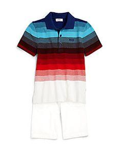 Hugo Boss - Boy's Striped Polo Shirt
