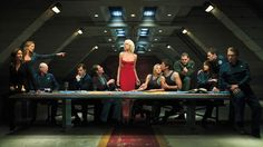 Not ST, but a lovely last supper scene from Battlestar Galactica