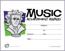 Free Printable Music Award Certificate (Beethoven Illustration) | MakingMusicFun.net