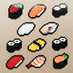 いいね!144件、コメント2件 ― @sakabooonのInstagramアカウント: 「久し振りのお寿司一式!イカとしめ鯖は廃番だな〜…って感じだったけど新しいビーズになって復活!薄いグレーのおかげでイカはよりイカっぽくなった〜!これまでのよりちょっと大きくなったけどこれはこれでいい感じ!かな!」