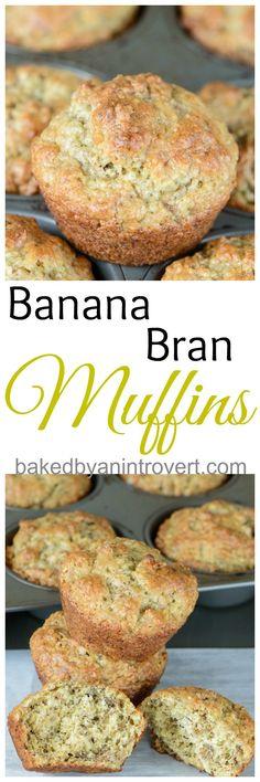 A delicious banana bran muffin - SO good and healthy!   via bakedbyanintrovert.com