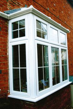 Exterior, : Amazing Pictures Of Bay Window With Casement Accent Window Decoration For Wider View Outside