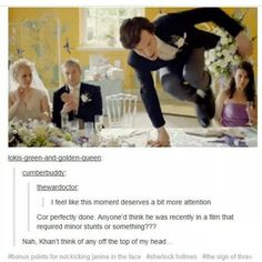 bonus points for not kicking Janine in the face ... actually it would have been hilarious <--Mmmm =)