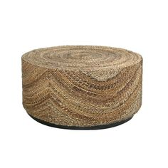 Decorative Elkton Natural Tan Round Coffee Table  Shape: Round Materials: Natural Jute Category: Coffee Table Dimensions: 39 inches long x 39 inches wide x 18 inches high