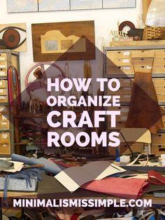 Minimalist Decor: Organizing Craft Rooms - Minimalism is Simple Easy Minimalist Lifestyle Tips Craft Room Design, Craft Room Decor, Craft Room Storage, Craft Rooms, Storage Ideas, Quilt Storage, Storage Units, Media Storage, Scrapbook Storage