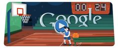 Google Basketball Doodle, it is very funny game. I love it!