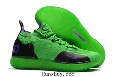 newest 304f7 07db9 Nike Zoom KD 11 Swooch Flyknit Green Black Purple Men Shoes by Melena  Marcos - 2019