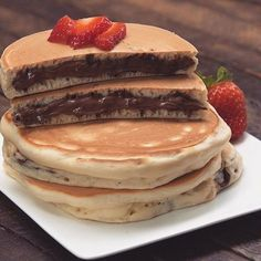 ☆ pinterest// sydharrisx ☆ nutella filled pancakes