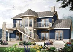 Contemporary-Modern House Plan with 1953 Square Feet and 3 Bedrooms(s) from Dream Home Source   House Plan Code DHSW42026