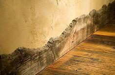 Uneven Rustic baseboard