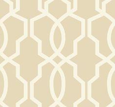 York Wallcoverings GE3665 Ashford Geometrics Hourglass Trellis Wallpaper Beige and Cream Home Decor Wallpaper Wallpaper