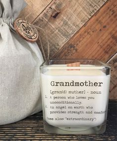 Excited to share the latest addition to my shop: Grandmother Gift / Grandma Gifts/ Gifts For Grandmother / Candle With Message / Grandmother Birthday Gifts / Grandmother Definition /Grandma Diy Gifts Grandma, Grandmother Gifts, Gifts For Mum, Sister Gifts, Grandmothers, Grandma Birthday Quotes, Birthday Message For Husband, Birthday Gifts For Grandma, Husband Birthday