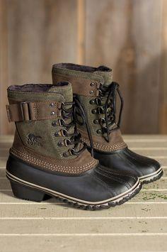 Women's Sorel Winter Fancy Waterproof Suede Boots by Overland Sheepskin Co. (style 50521) So looòve these!!!