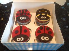 Chocolate Birthday-Bugs Cupcakes