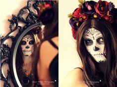 * N i c e s t T h i n g s *: DIY: Dia De Los Muertos Flower Crown & Makeup