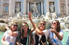 Wished for a new pearl necklace when I tossed my coin in the Trevi Fountain!