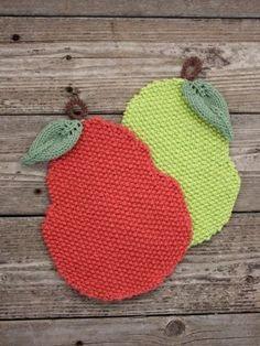 Seed Stitch Pear Dishcloth Pattern