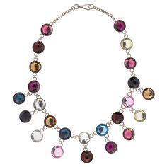 Miu Miu crystal plexiglass necklace