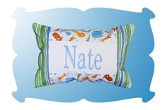 Pieced Name Pillow...made in the hoop, in just one hooping.