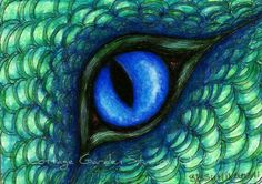Items similar to Dragon ACEO, Dragon Fantasy Art, Water Dragon Eye, Illustration, Print on Etsy Fantasy Dragon, Dragon Art, Fantasy Art, Blue Dragon, Colored Pencil Artwork, Colored Pencils, Dragon Eye Drawing, Eye Illustration, Animal Art Projects