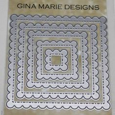 SCALLOPED STITCHED NESTED SQUARE DIES - GINA MARIE DESIGNS