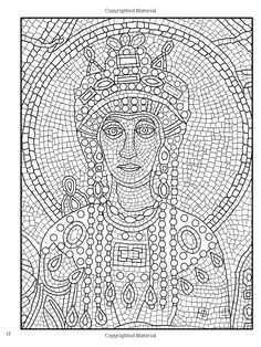 Mosaic Coloring Page Doodles Coloring Pages Pinterest