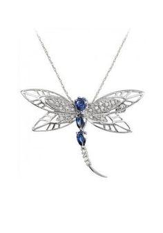 Swarovski Crystal Dragonfly Necklace - Necklaces - Jewelry