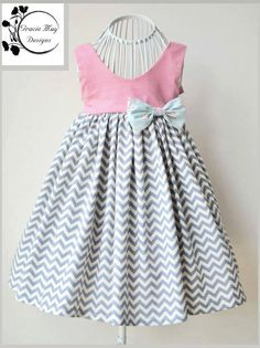 Gracelyn Dress Girls PDF Pattern Sizes 2 3 4 5 6 by LuxePatternCo