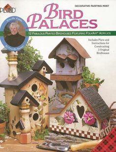 Bird Palaces Decorative Tole Painting Craft Book by Priscilla Hauser