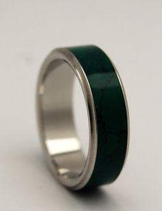 wedding rings titanium rings wood rings by MinterandRichterDes