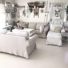 Instagram: Lolvind Farmhouse, Couch, Living Room, Furniture, Instagram, Home Decor, Settee, Decoration Home, Sofa