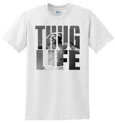 Tupac Thug Life Shirt on Etsy