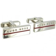 Hugo Boss Cufflinks 'Eliaz' Hugo Boss Black - in Med Red