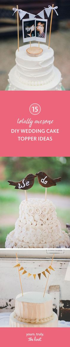Tackle these crafty DIY wedding cake topper ideas for a special keepsake.