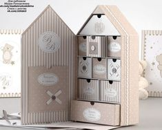 Amadeus - Enfants et Maison No instructions to make Diy Paper, Paper Crafts, Fabric Boxes, Altered Boxes, Cardboard Crafts, Craft Box, Diy Storage, Shadow Box, Diy Gifts
