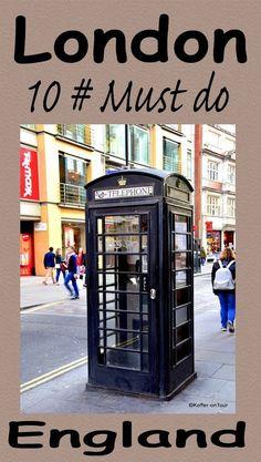 Die Besten 10 Must do für London. Schau mal rein um nichts zu verpassen!