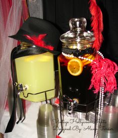 Hollywood Theme - Even our beverage dispensers were dressed for a walk down the red carpet! Such an easy and fun decorative touch for a Hollywood themed event.