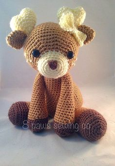 Amigurumi Deer by 8PawsSewingCompany on Etsy