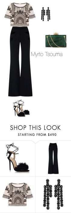 """""""New Year's Eve 3"""" by myrtots ❤ liked on Polyvore featuring Charlotte Olympia, Temperley London and Simone Rocha"""