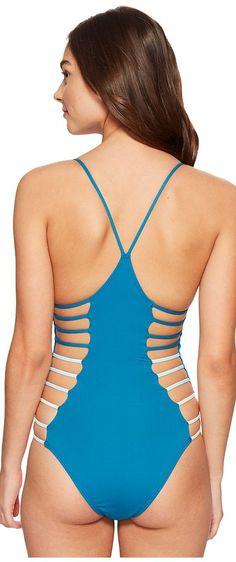 L*Space Wild Side One-Piece (Mediterranean) Women's Swimsuits One Piece - L*Space, Wild Side One-Piece, MT09M16-MDR, Apparel One Piece Swimsuits, Swimsuits, One Piece, Apparel, Clothes Clothing, Gift - Outfit Ideas And Street Style 2017