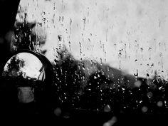 Raindrops. Reflection.