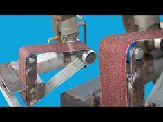 Belt Sander Using Angle Grinder Diy - YouTube