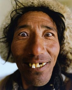 Tibet - Even though his teeth leave a little to be desired, this man has a beautiful smile..