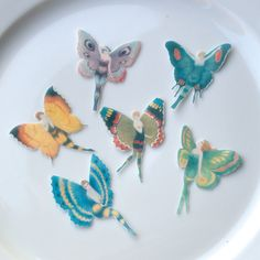 Flapper Butterfly Fairies -24 x Small Mixed Colours - Edible Wafer Paper Cake Cupcake Cookie Toppers Wedding 1920 Wings Fairy faerie Pixie